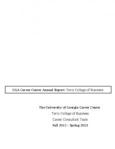 Terry College Career Consultants - Career Center - University of ...