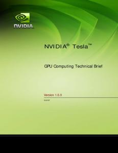 Tesla Technical Brief - Nvidia