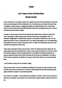 TESS and Tess of the d'Urbervilles Study Guide - Film Education