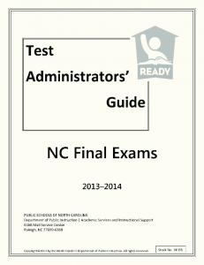 Test Administrators' Guide