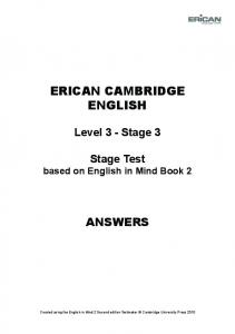 Test Answers - Erican