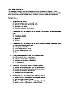 Test Bank - Chapter 3 - Middle School Chemistry