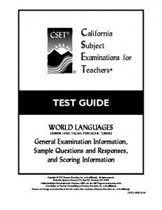 TEST GUIDE