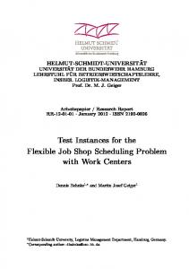 Test Instances for the Flexible Job Shop Scheduling Problem with ...