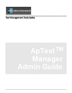 Test Manager User Guide - ApTest