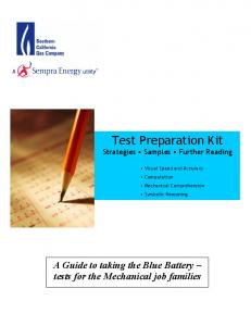 Test Preparation Kit - Southern California Gas Company