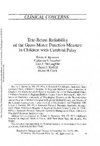 Test-Retest Reliability of the Gross Motor Function ...