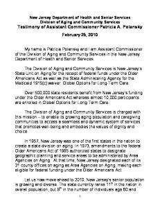 Testimony of Assistant Commissioner Patricia A. Polansky