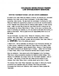 Testimony of Richard Armstrong, Colorado River Indian Tribes Law