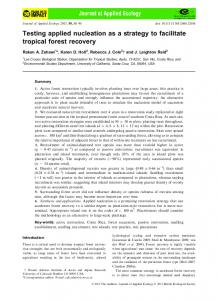Testing applied nucleation as a strategy to ... - Wiley Online Library