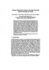 Testing Distributed Systems through Symbolic Model Checking ... - ULB