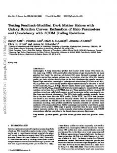Testing Feedback-Modified Dark Matter Haloes with Galaxy Rotation ...