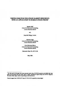 testing for evolving stock market efficiency. with an application to ...