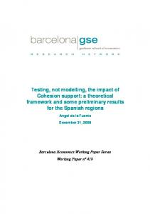 Testing, not modelling, the impact of Cohesion