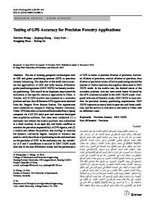 Testing of GPS Accuracy for Precision Forestry ... - Springer Link