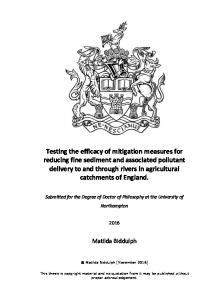 Testing the efficacy of mitigation measures for