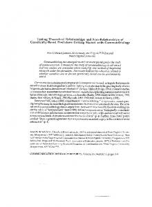 Testing theoretical relationships and non-relationships of - James C ...