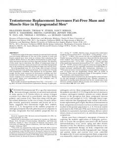Testosterone Replacement Increases Fat-Free Mass and Muscle Size ...