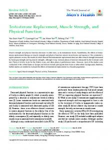 Testosterone Replacement, Muscle Strength, and Physical Function