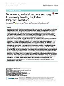 Testosterone, territorial response, and song in ... - Semantic Scholar