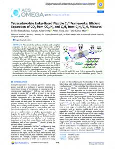 Tetracarboxylate Linker-Based Flexible CuII ... - ACS Publications