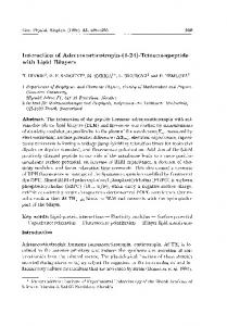 Tetracosapeptide with Lipid Bilayers - General Physiology and