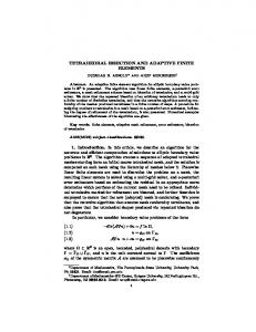 TETRAHEDRAL BISECTION AND ADAPTIVE FINITE ELEMENTS 1 ...