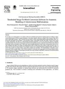Tetrahedral Image-to-Mesh Conversion Software ... - ScienceDirect.com