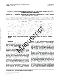 Tetrahedral vs. polyhedral mesh size evaluation on flow velocity and ...