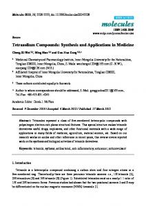 Tetrazolium Compounds: Synthesis and ... - Semantic Scholar