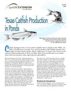 Texas Catfish Production in Ponds - Texas A&M AgriLife Extension ...