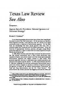Texas Law Review See Also - Papers.ssrn.com