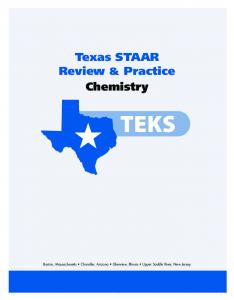Texas STAAR Review & Practice Chemistry - Pearson