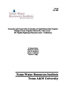 Texas Water Resources Institute Texas A&M University - CiteSeerX