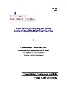 Texas Water Resources Institute Texas A&M University