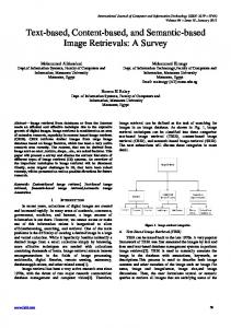 Text-based, Content-based, and Semantic-based Image Retrievals: A
