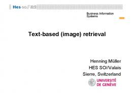 Text-based (image) retrieval - Thomas Deselaers