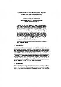 Text Classification of Technical Papers Based on Text Segmentation ...