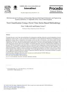 Text Classification Using a Novel Time Series based ... - Core