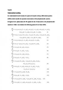 Text S1 Mathematical modeling Our mathematical model ... - PLOS