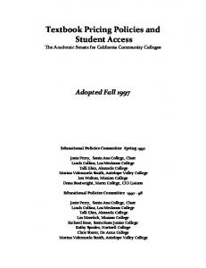 Textbook Pricing Policies and Student Access