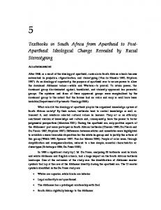 Textbooks in South Africa from Apartheid to Post- Apartheid - CiteSeerX