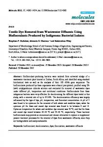 Textile Dye Removal from Wastewater Effluents Using ... - CiteSeerX