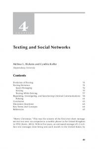 Texting and Social Networks