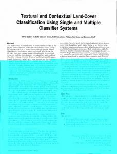 Textural and Contextual Land-Cover Classification Using ... - CiteSeerX