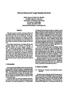 Textural Features for Image Database Retrieval - Semantic Scholar