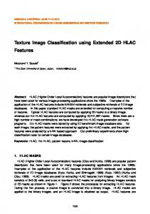 Texture image classification using extended 2D HLAC features