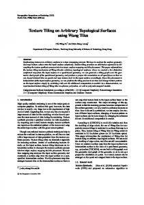 Texture Tiling on Arbitrary Topological Surfaces using ... - CiteSeerX