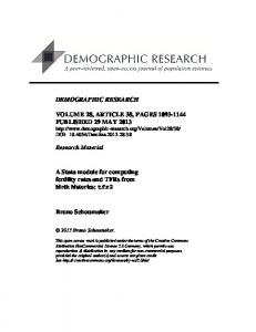 tfr2 - Demographic Research