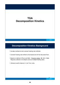 TGA Decomposition Kinetics